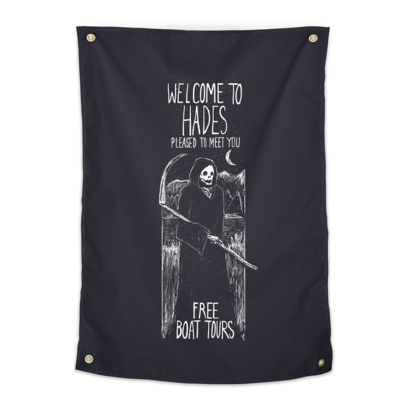 Welcome to Hades Home Tapestry by Thomas Orrow