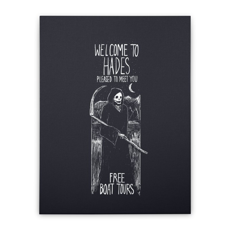 Welcome to Hades Home Stretched Canvas by Thomas Orrow