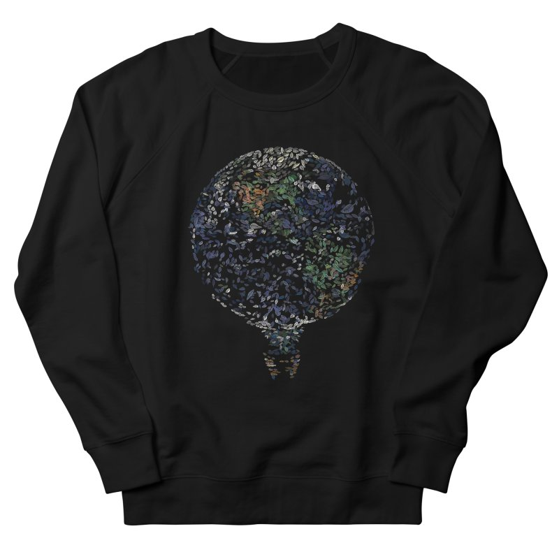 Leave This World Men's French Terry Sweatshirt by Thomas Orrow