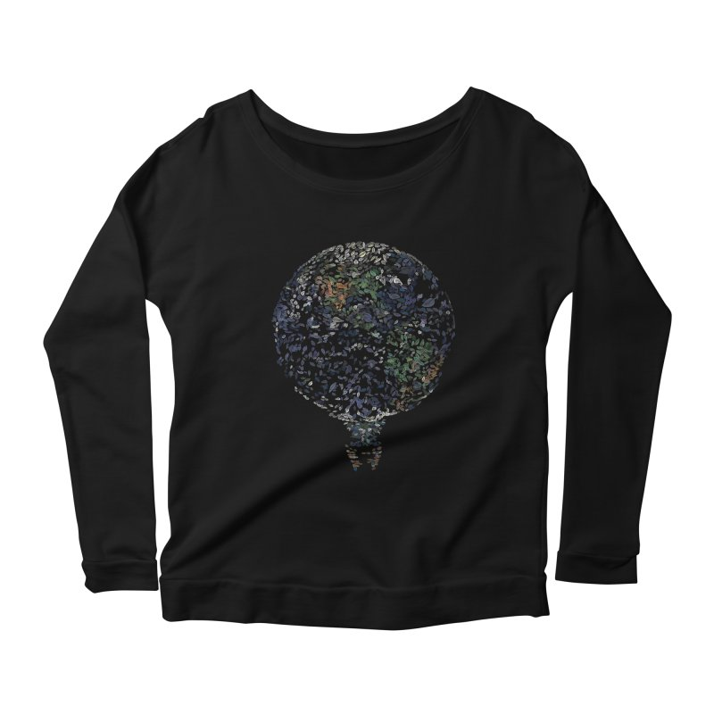 Leave This World Women's Scoop Neck Longsleeve T-Shirt by Thomas Orrow