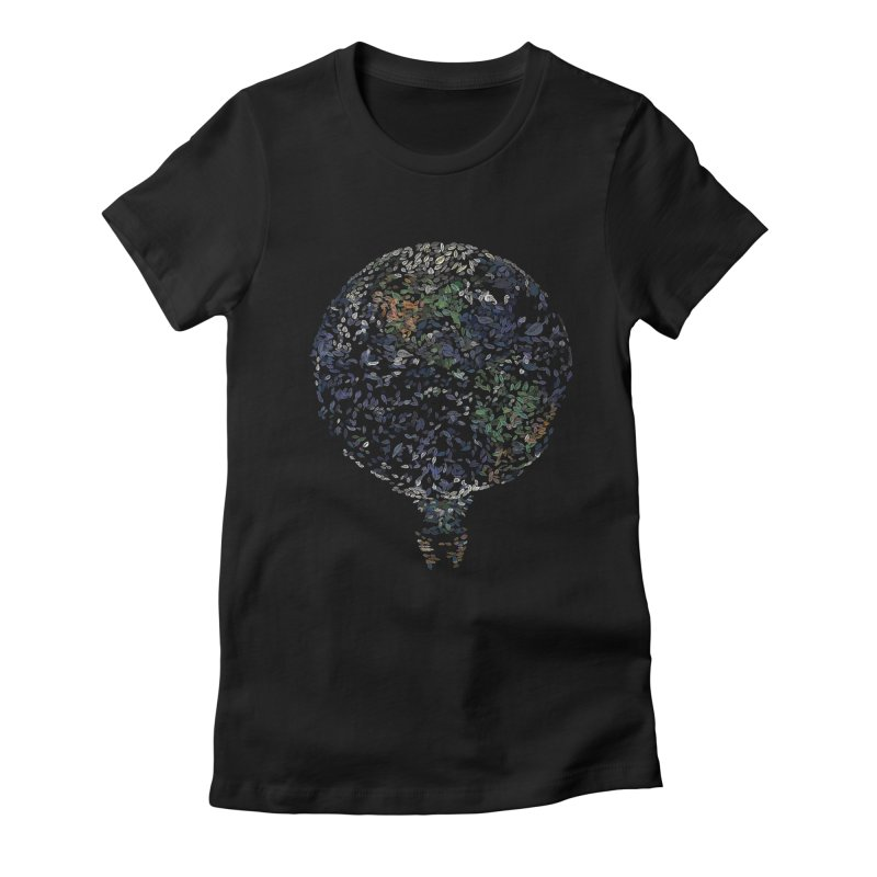 Leave This World Women's Fitted T-Shirt by Thomas Orrow