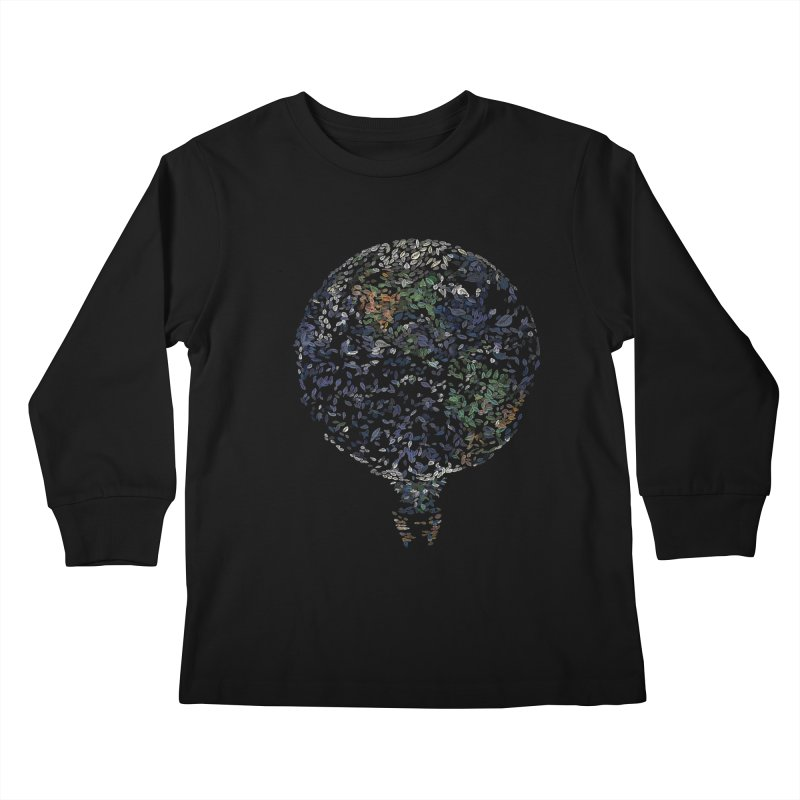 Leave This World Kids Longsleeve T-Shirt by Thomas Orrow
