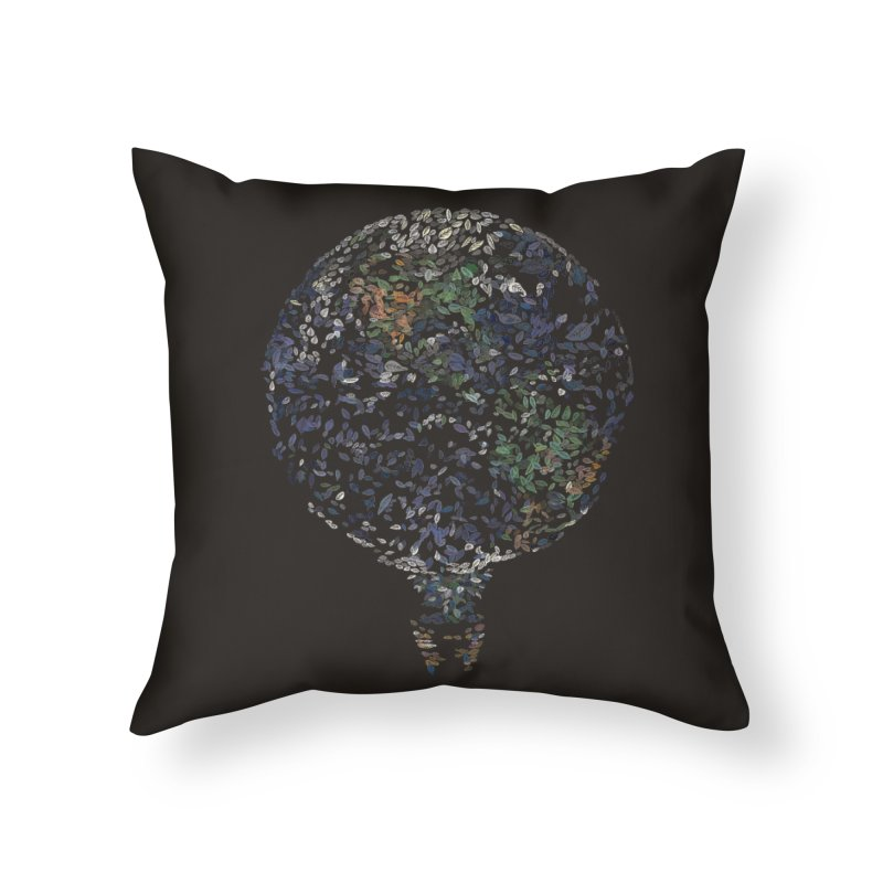 Leave This World Home Throw Pillow by Thomas Orrow