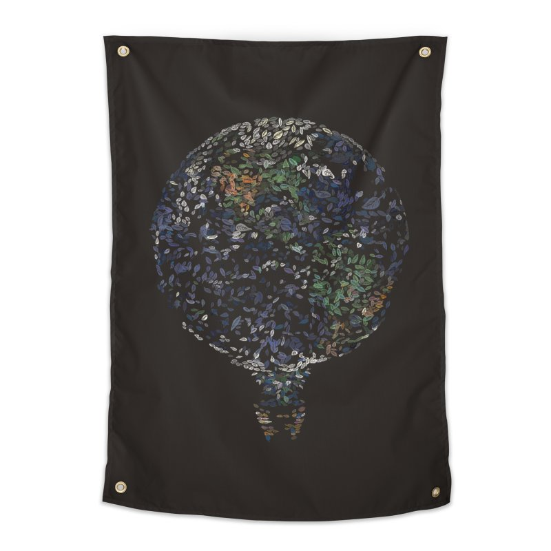 Leave This World Home Tapestry by Thomas Orrow