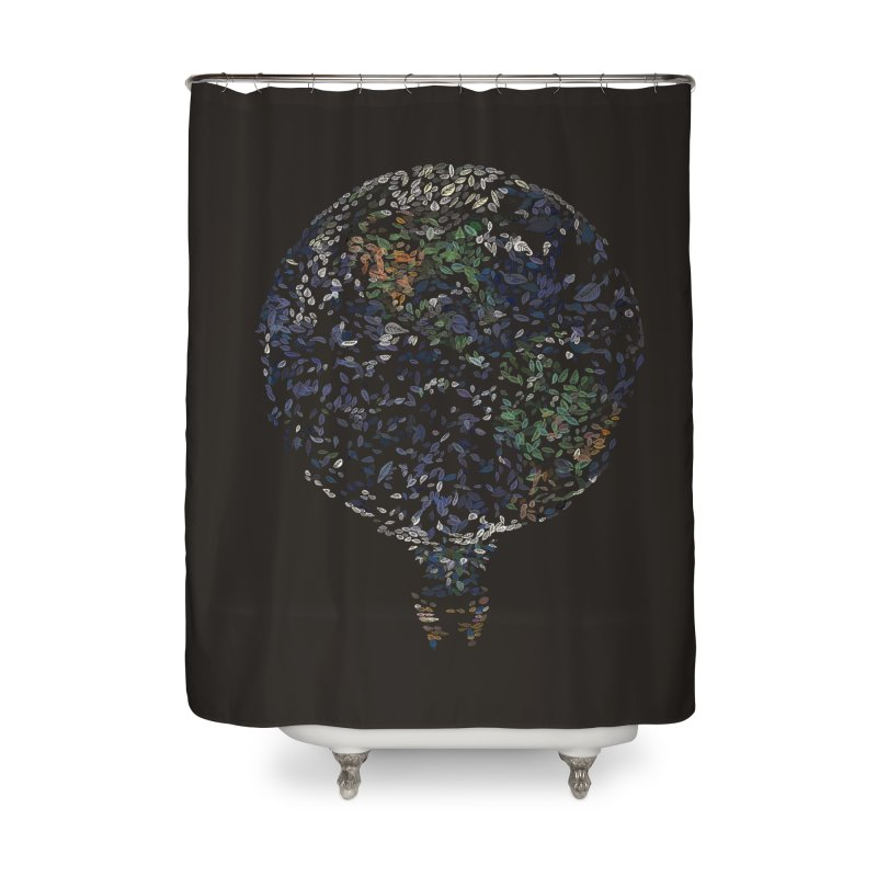 Leave This World Home Shower Curtain by Thomas Orrow