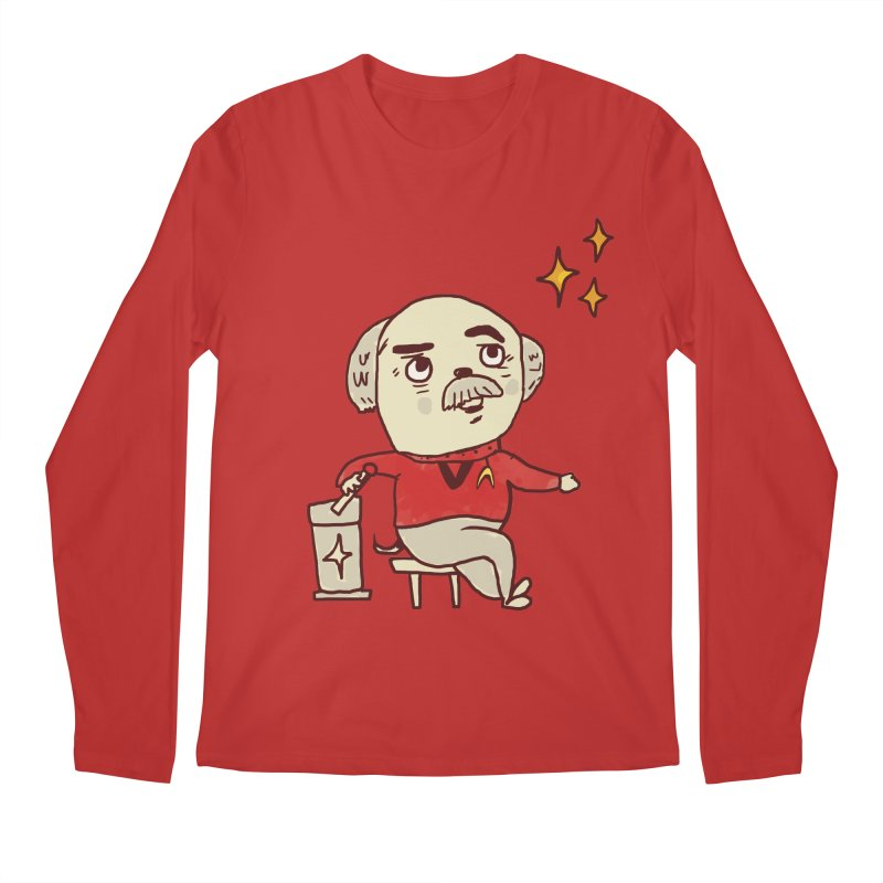 Beam Me Up, Scotty Dog Men's Regular Longsleeve T-Shirt by Thomas Orrow