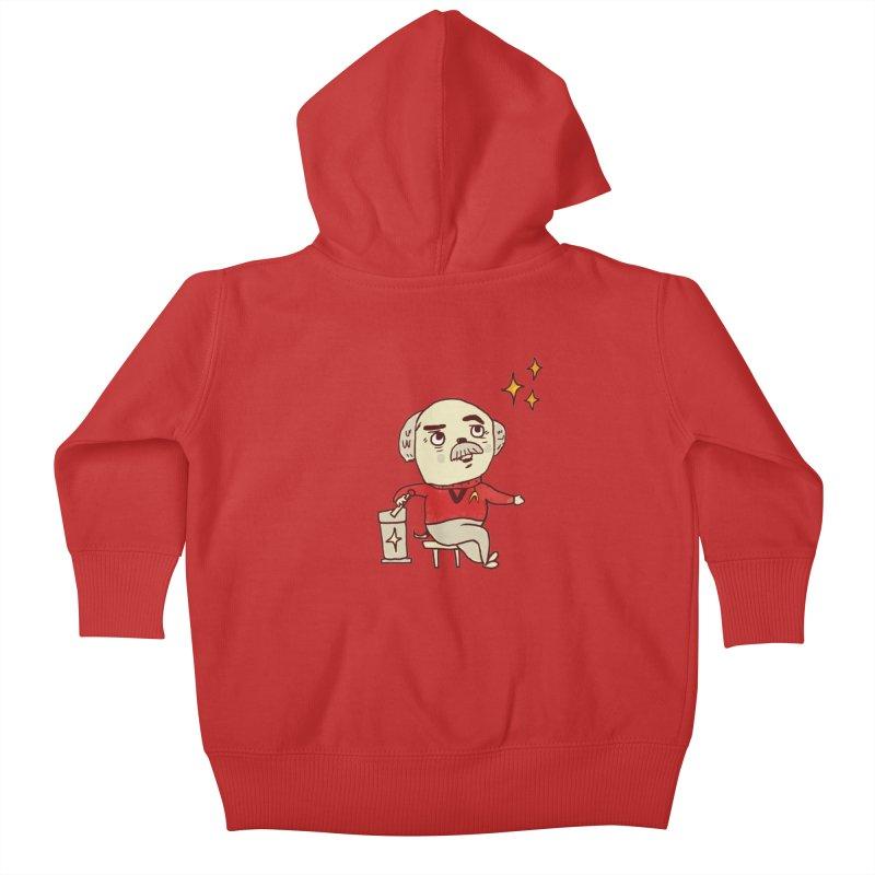 Beam Me Up, Scotty Dog Kids Baby Zip-Up Hoody by Thomas Orrow