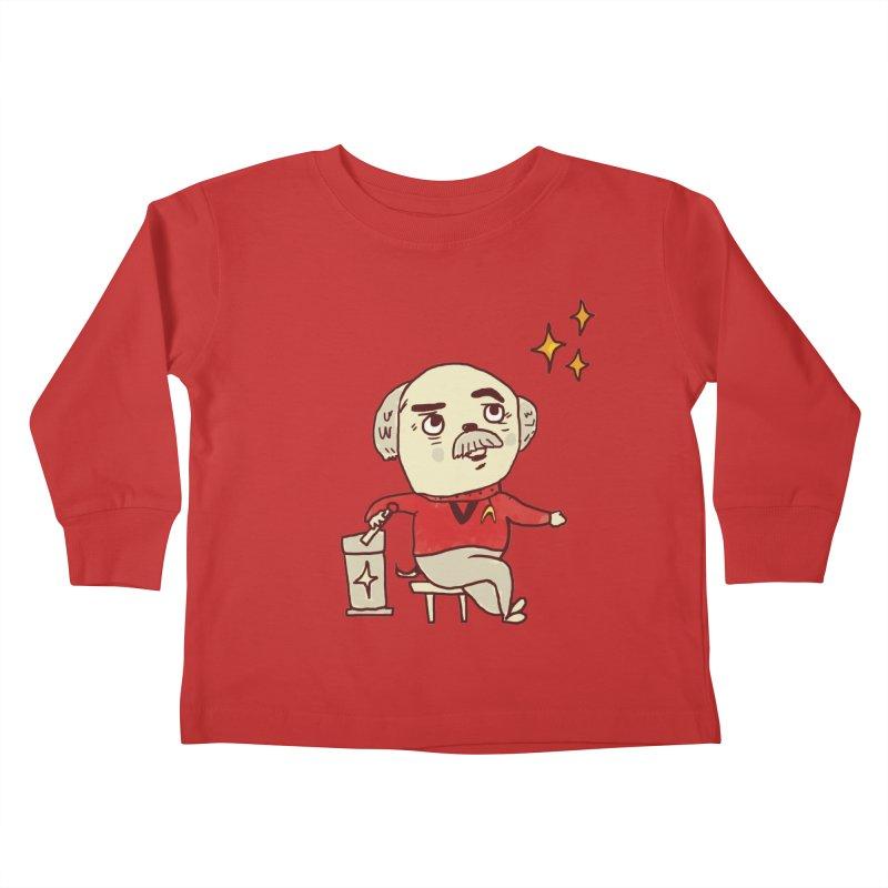 Beam Me Up, Scotty Dog Kids Toddler Longsleeve T-Shirt by Thomas Orrow