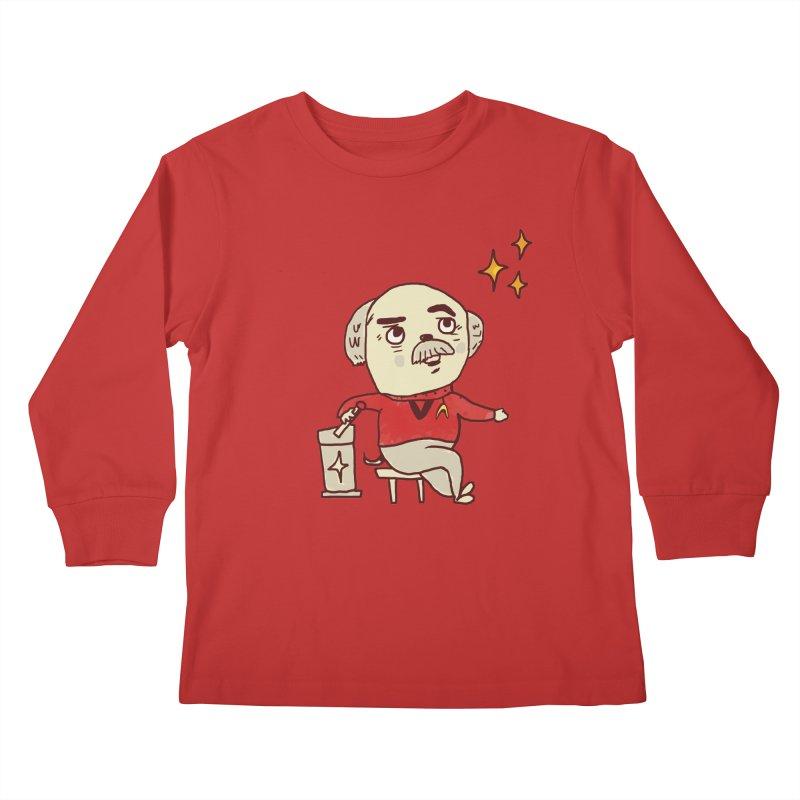 Beam Me Up, Scotty Dog Kids Longsleeve T-Shirt by Thomas Orrow