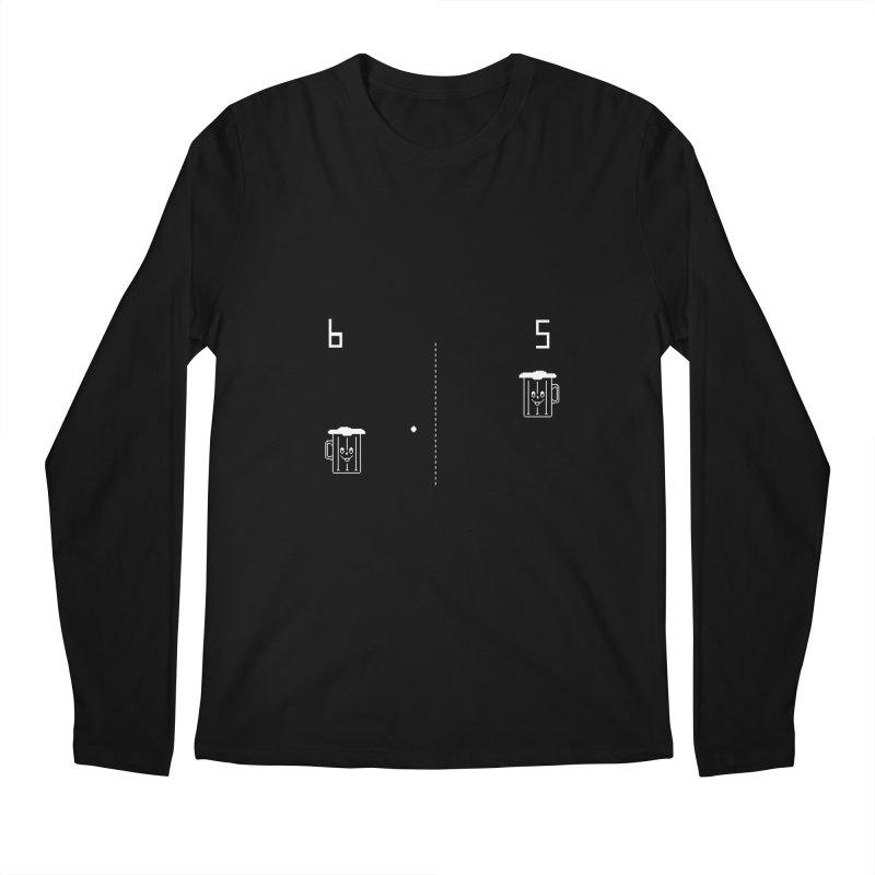 Retro Beer Pong Men's Regular Longsleeve T-Shirt by Thomas Orrow