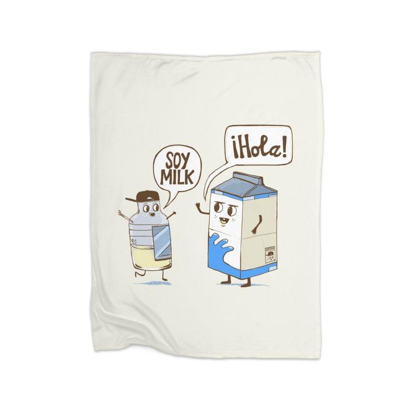 Soy Milk Home Fleece Blanket Blanket by Thomas Orrow