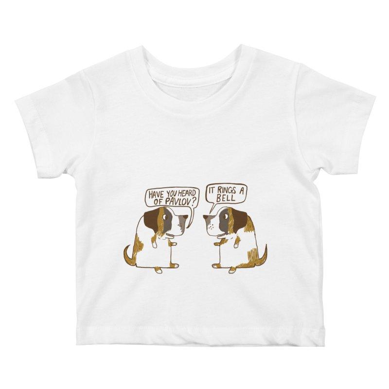 Pavlov's Dogs Kids Baby T-Shirt by Thomas Orrow
