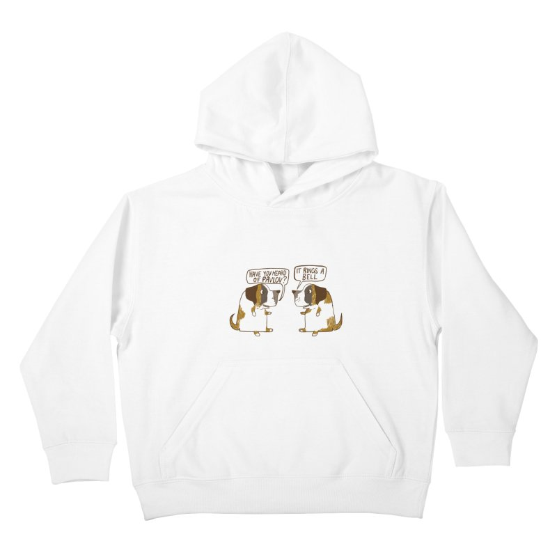 Pavlov's Dogs Kids Pullover Hoody by Thomas Orrow