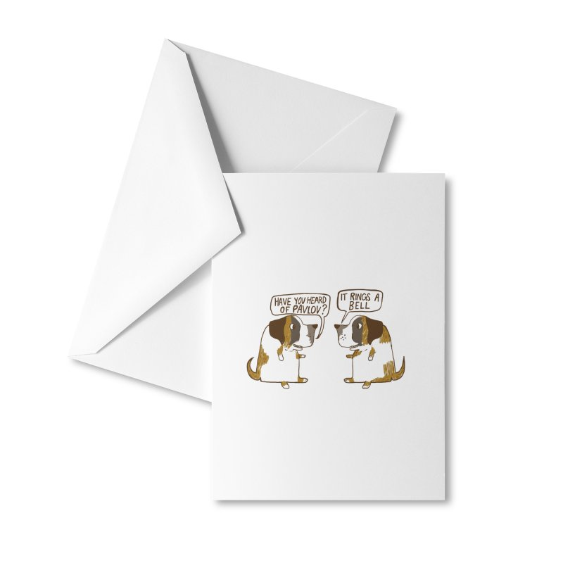 Pavlov's Dogs Accessories Greeting Card by Thomas Orrow