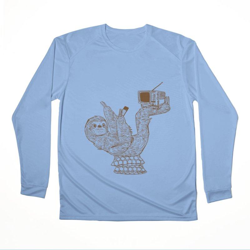 Staycation Sloth Men's Performance Longsleeve T-Shirt by Thomas Orrow