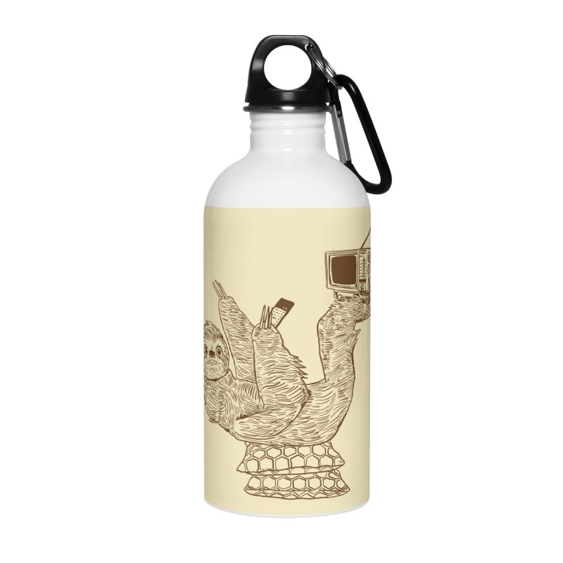 Staycation Sloth Accessories Water Bottle by Thomas Orrow