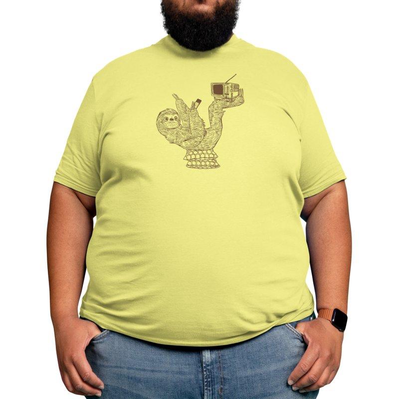 Staycation Sloth Men's T-Shirt by Thomas Orrow