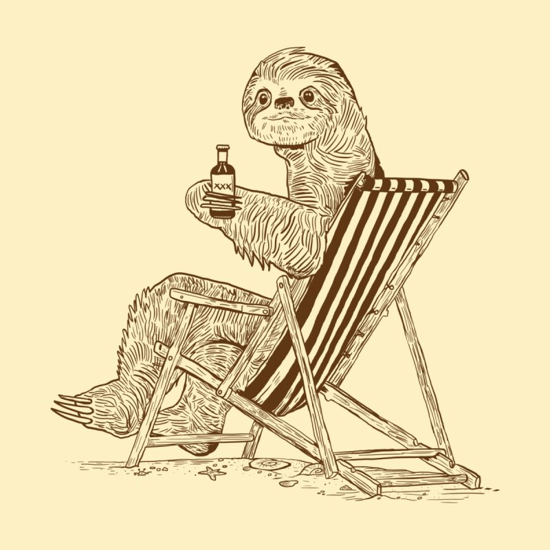 Beach Sloth by Thomas Orrow