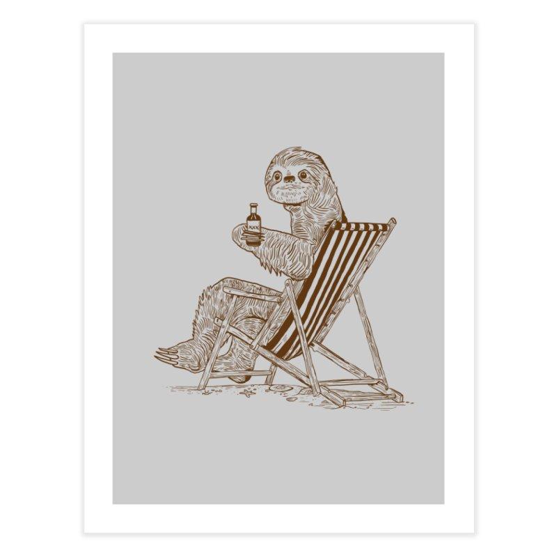 Beach Sloth Home Fine Art Print by Thomas Orrow