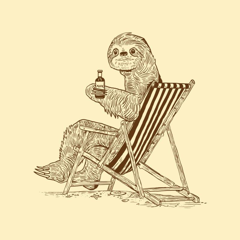 Beach Sloth Men's V-Neck by Thomas Orrow