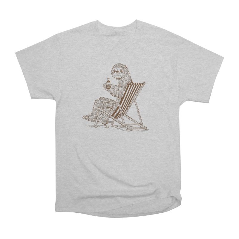 Beach Sloth Men's T-Shirt by Thomas Orrow