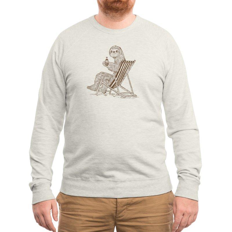 Beach Sloth Men's Sweatshirt by Thomas Orrow