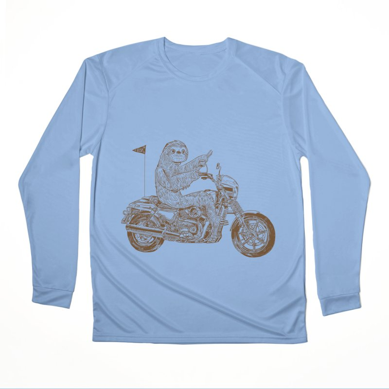 Sloth Rider Men's Performance Longsleeve T-Shirt by Thomas Orrow