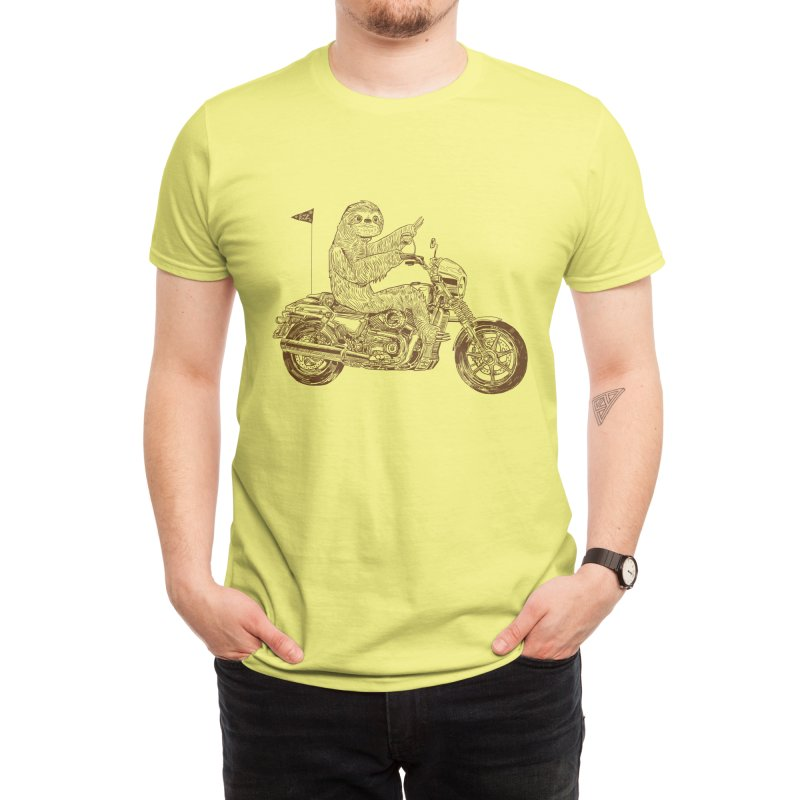 Sloth Rider Men's T-Shirt by Thomas Orrow