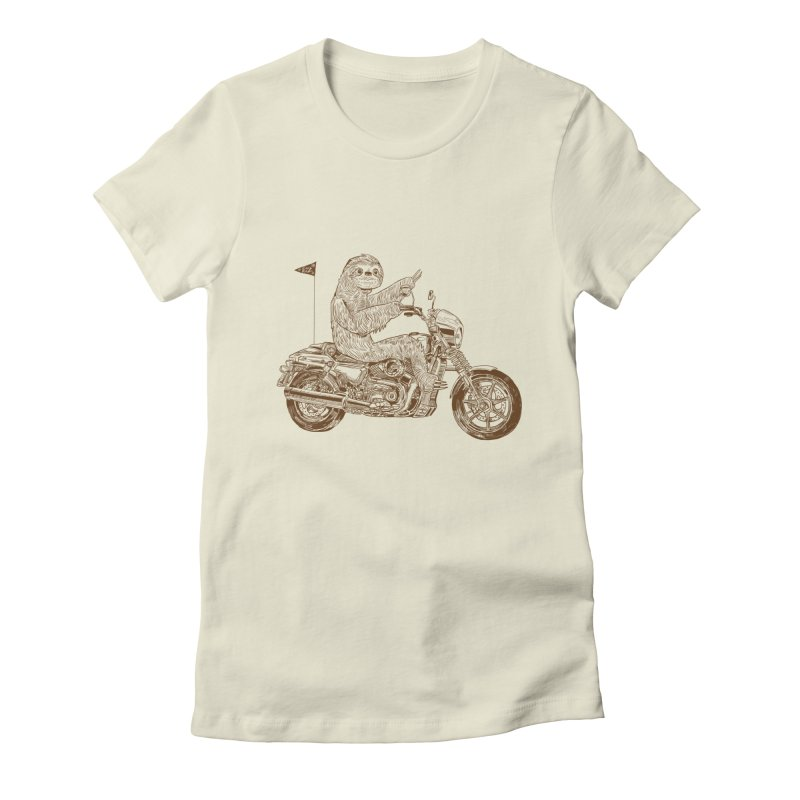 Sloth Rider Women's Fitted T-Shirt by Thomas Orrow