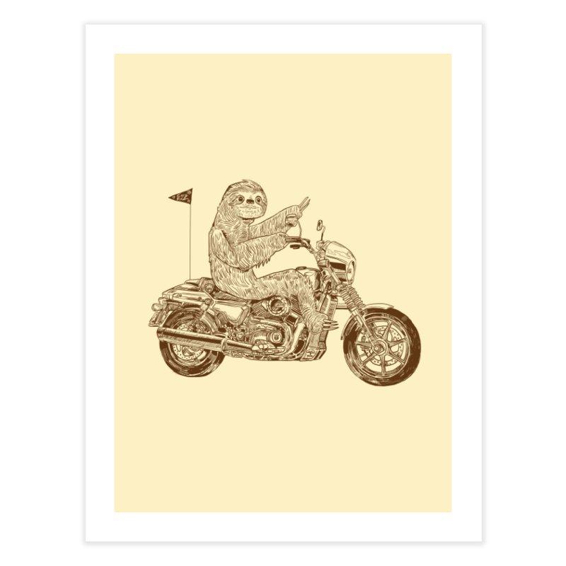 Sloth Rider Home Fine Art Print by Thomas Orrow