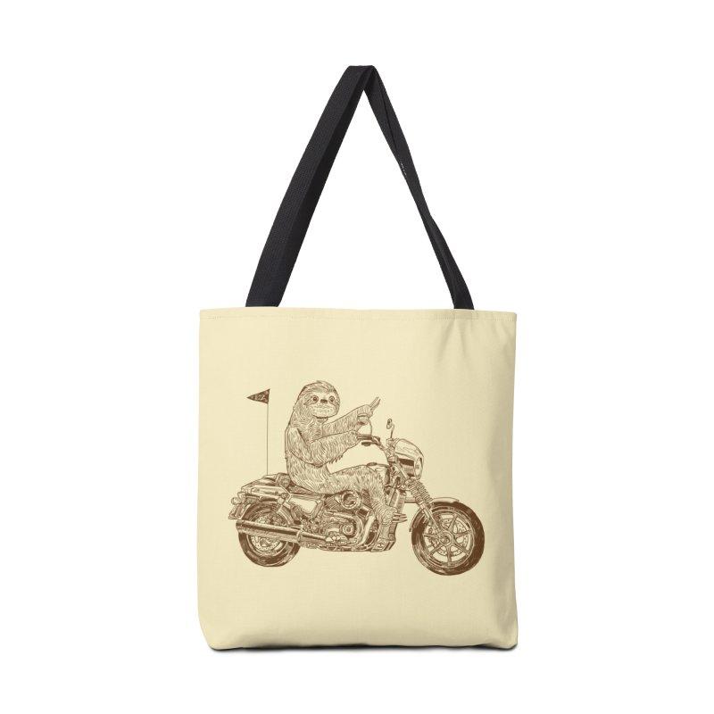 Sloth Rider Accessories Tote Bag Bag by Thomas Orrow