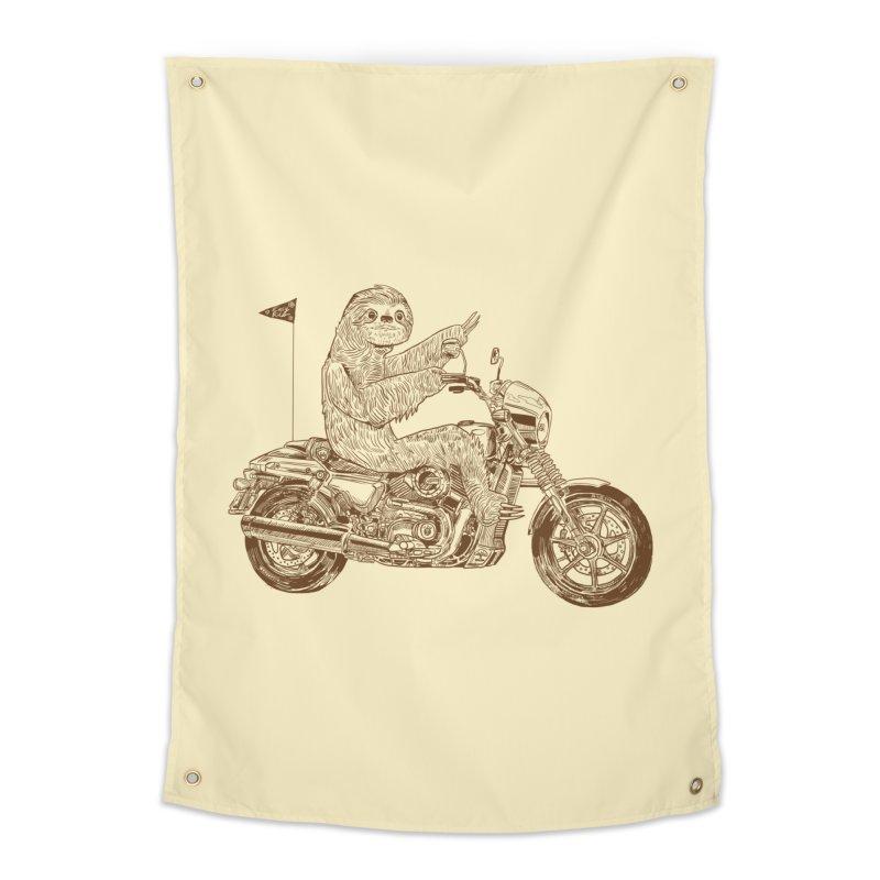 Sloth Rider Home Tapestry by Thomas Orrow