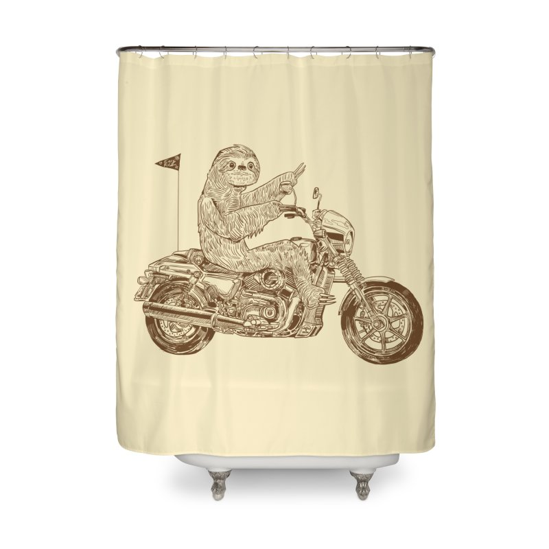 Sloth Rider Home Shower Curtain by Thomas Orrow