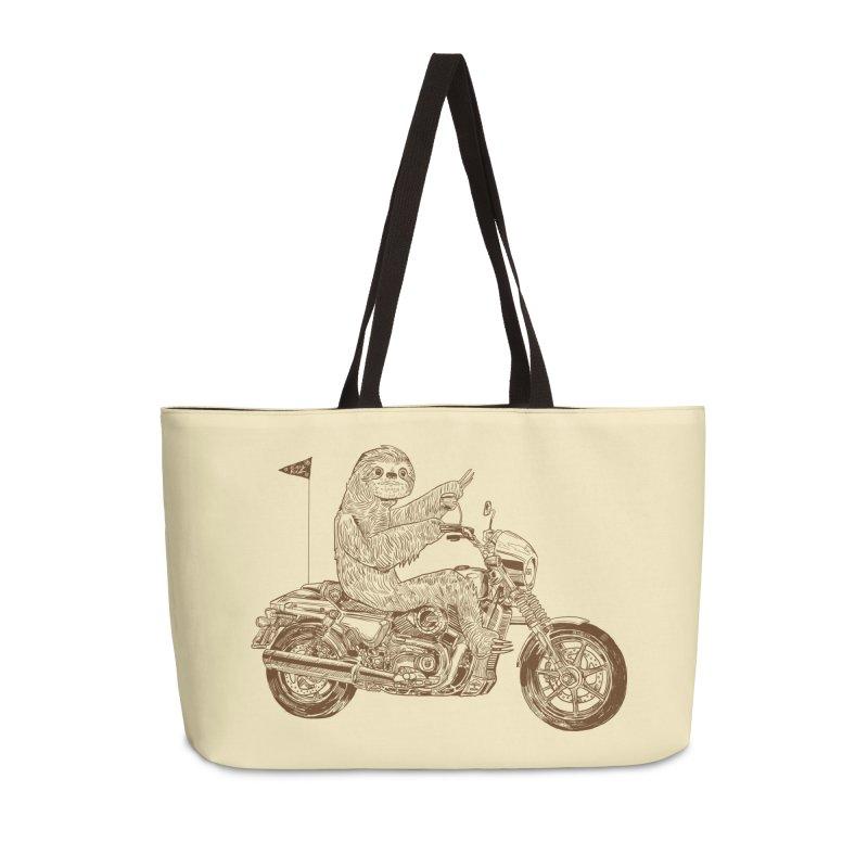 Sloth Rider Accessories Weekender Bag Bag by Thomas Orrow