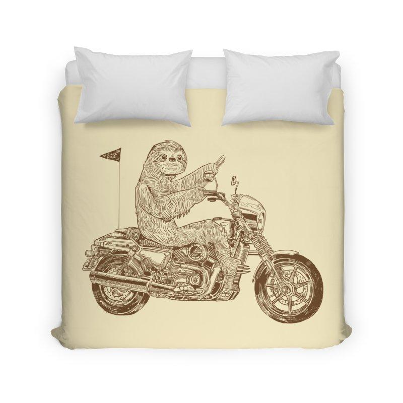 Sloth Rider Home Duvet by Thomas Orrow