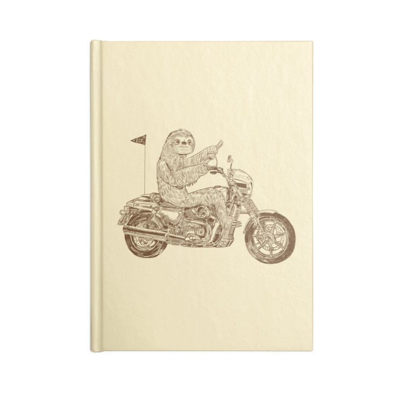 Sloth Rider Accessories Blank Journal Notebook by Thomas Orrow