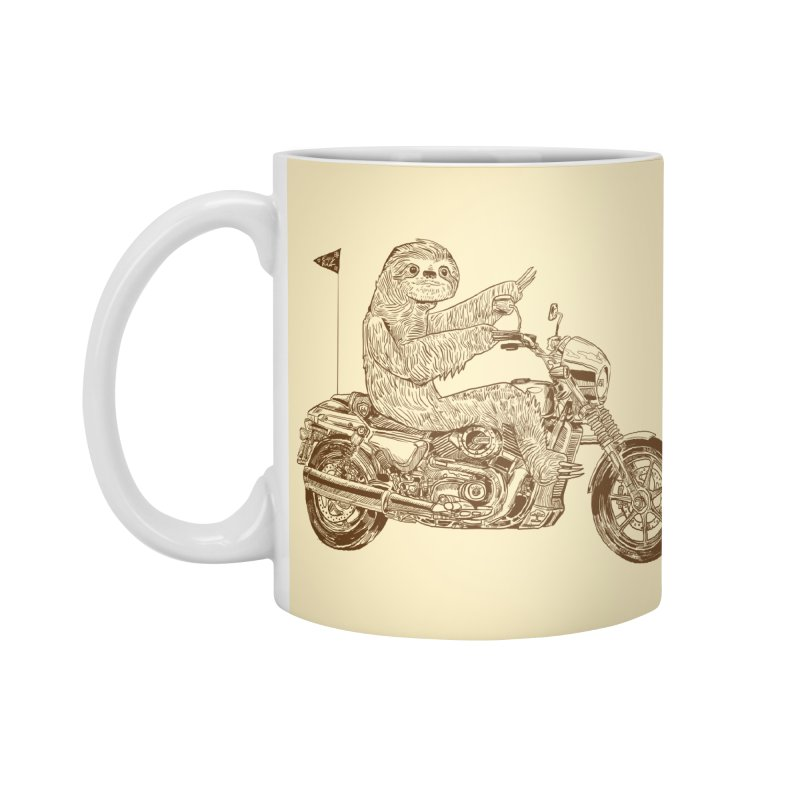 Sloth Rider Accessories Standard Mug by Thomas Orrow