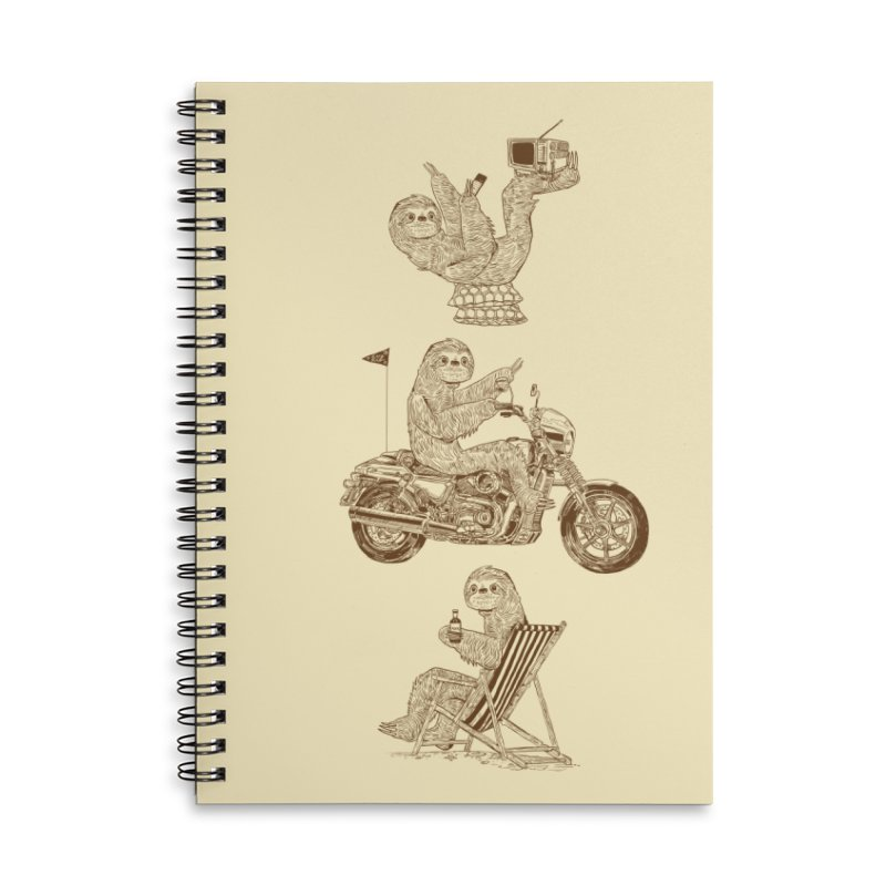 Slotholiday Accessories Lined Spiral Notebook by Thomas Orrow