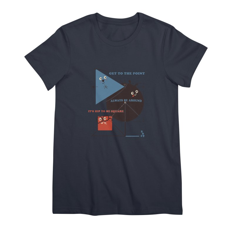 The Bauhaus School of Shapes Women's Premium T-Shirt by Thomas Orrow