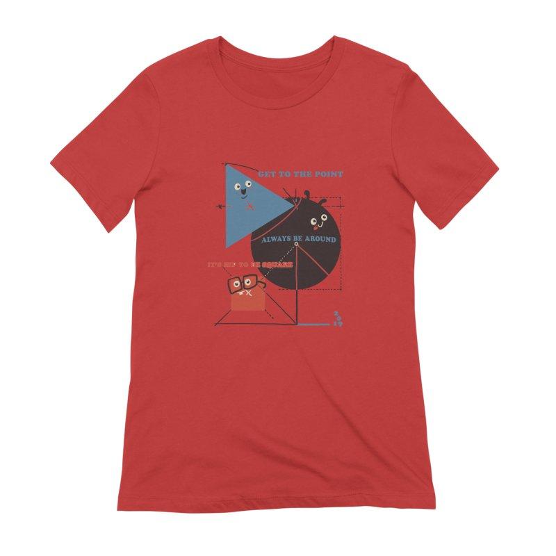 The Bauhaus School of Shapes Women's Extra Soft T-Shirt by Thomas Orrow