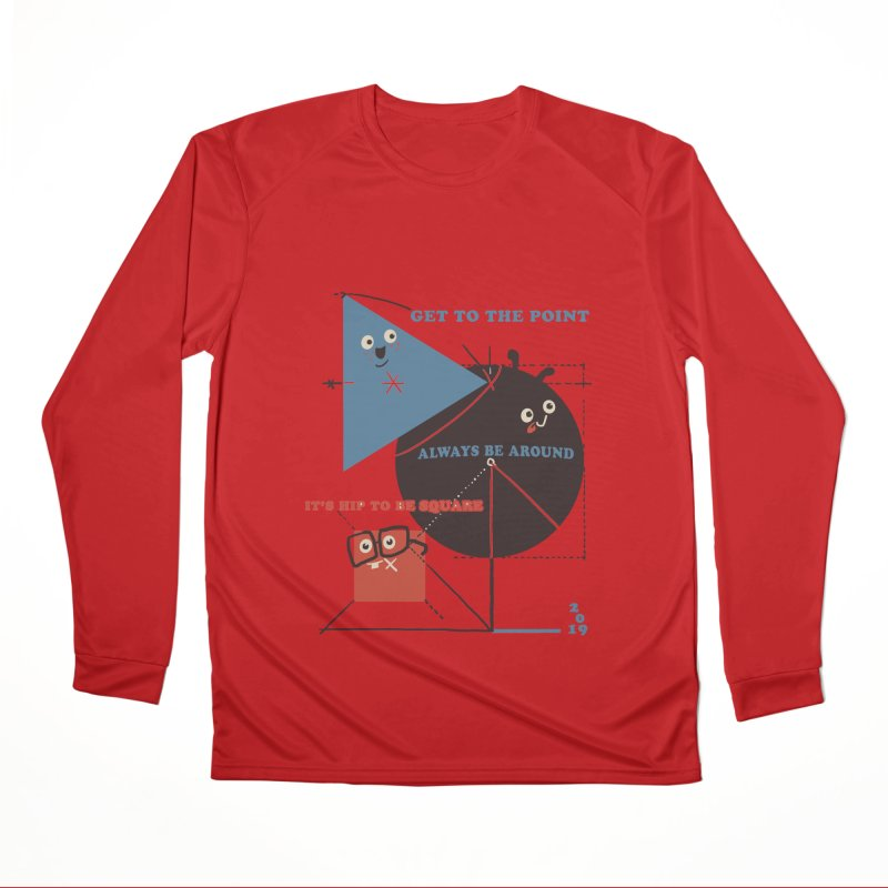 The Bauhaus School of Shapes Men's Performance Longsleeve T-Shirt by Thomas Orrow