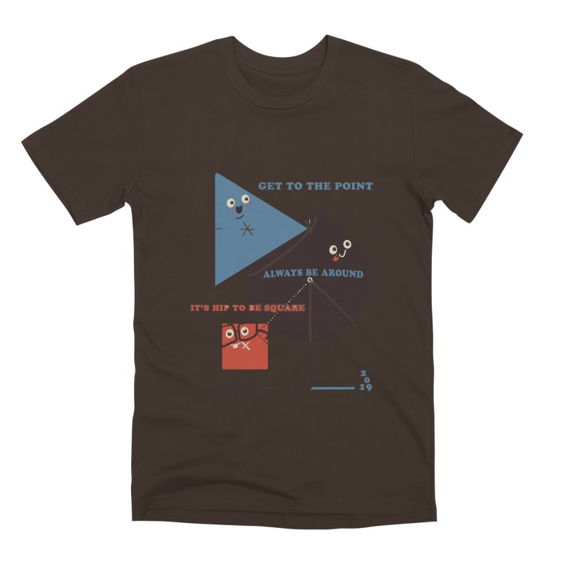 The Bauhaus School of Shapes Men's Premium T-Shirt by Thomas Orrow