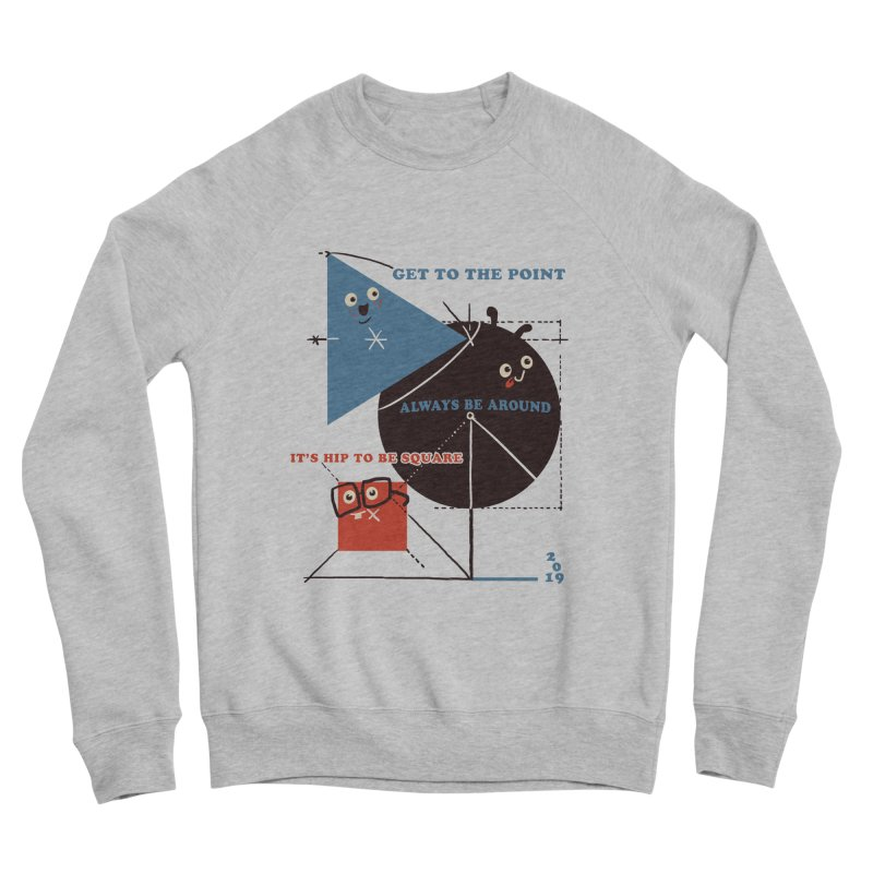 The Bauhaus School of Shapes Men's Sponge Fleece Sweatshirt by Thomas Orrow