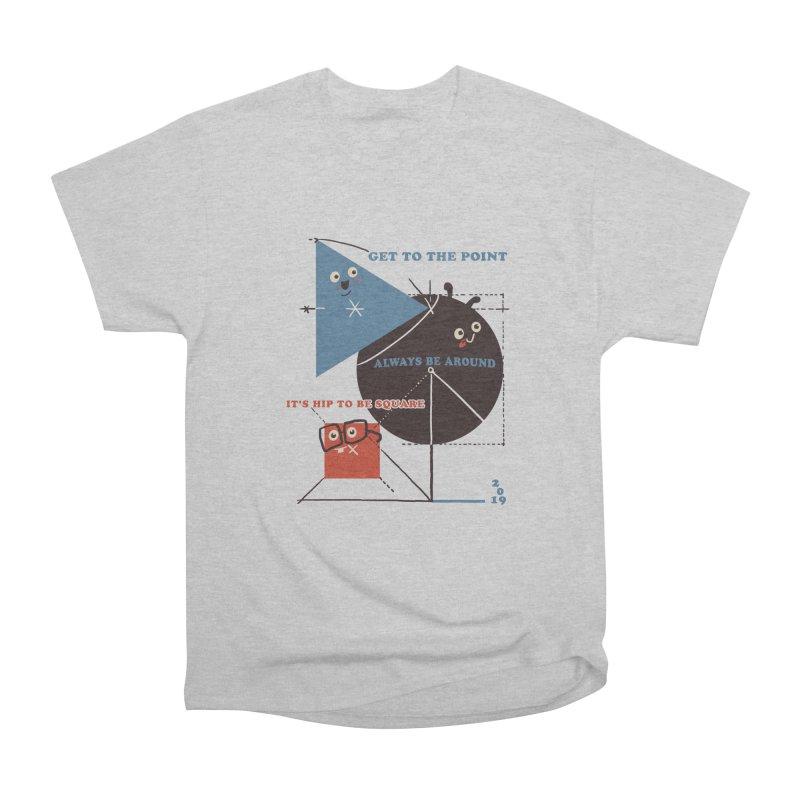 The Bauhaus School of Shapes Women's Heavyweight Unisex T-Shirt by Thomas Orrow