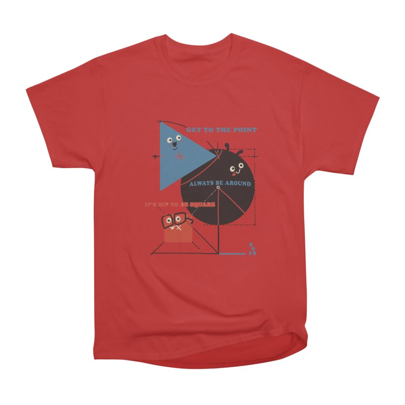 The Bauhaus School of Shapes Men's Heavyweight T-Shirt by Thomas Orrow