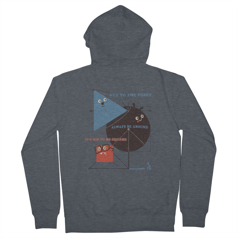 The Bauhaus School of Shapes Women's French Terry Zip-Up Hoody by Thomas Orrow