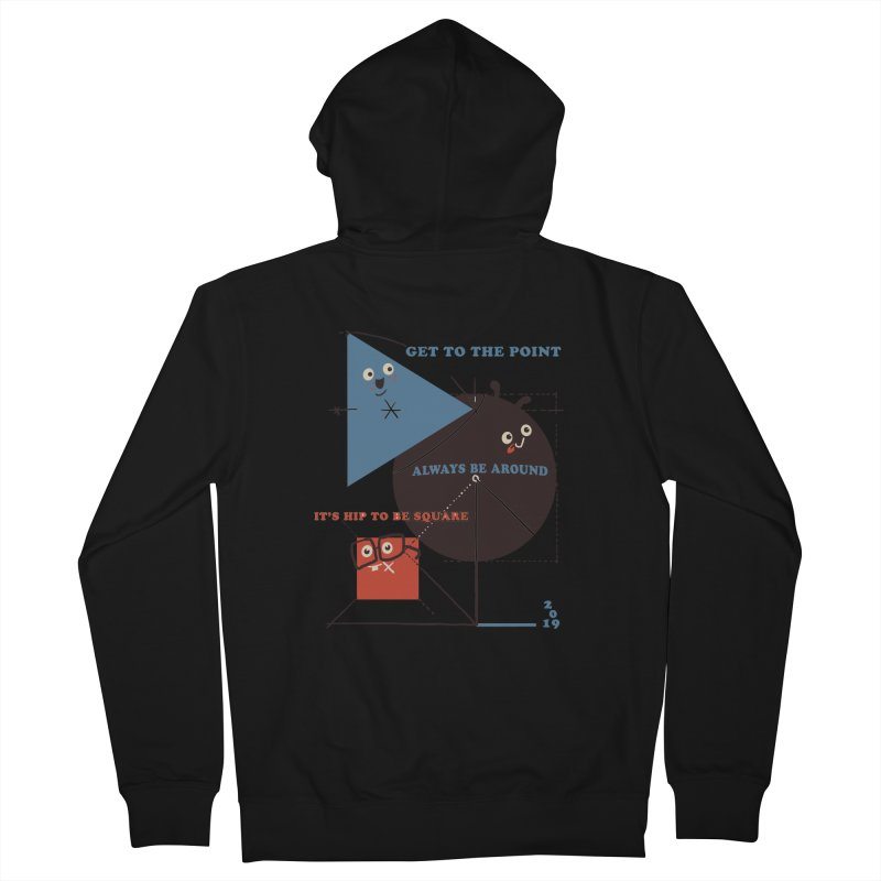 The Bauhaus School of Shapes Men's French Terry Zip-Up Hoody by Thomas Orrow