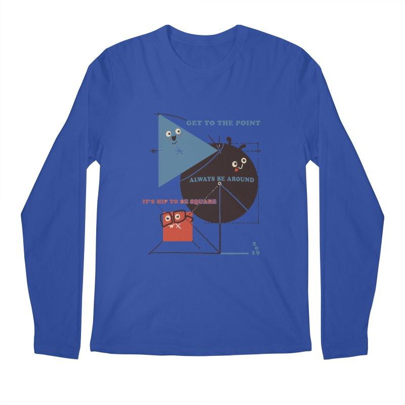 The Bauhaus School of Shapes Men's Regular Longsleeve T-Shirt by Thomas Orrow