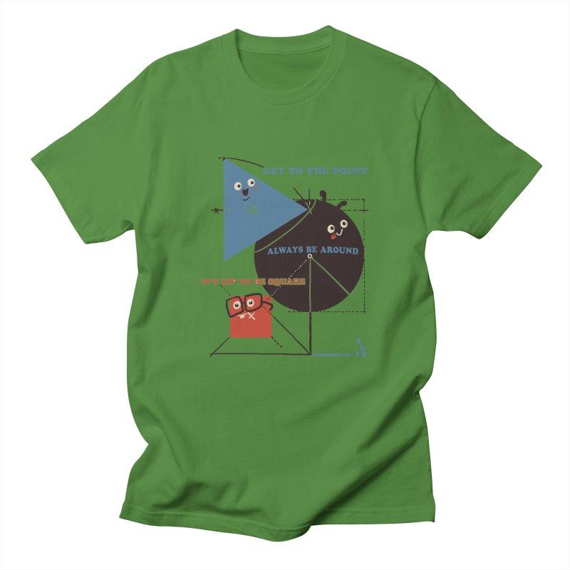 The Bauhaus School of Shapes Women's Regular Unisex T-Shirt by Thomas Orrow