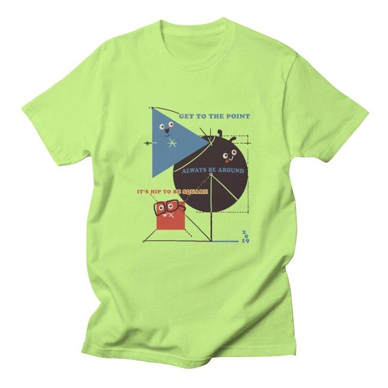 The Bauhaus School of Shapes Men's Regular T-Shirt by Thomas Orrow